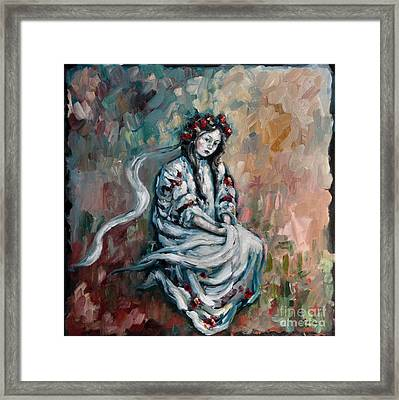 Peasant Of Peace Framed Print by Carrie Joy Byrnes
