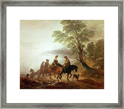 Peasants Going To Market Early Morning Framed Print by Thomas Gainsborough