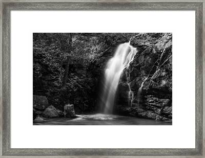 Peavine Falls In Monochrome Framed Print by Shelby  Young