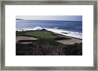 Pebble Beach 7th Hole Framed Print by Retro Images Archive