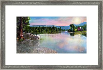 Pebble Beach Framed Print by David M ( Maclean )