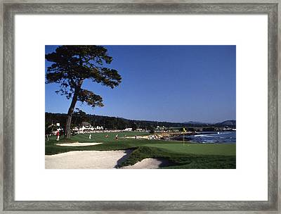 Pebble Beach Golf 18th Hole Framed Print by Retro Images Archive
