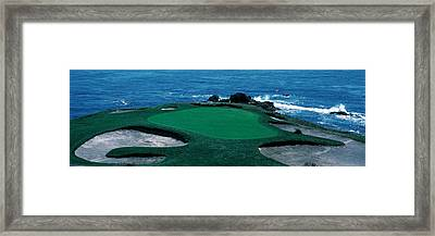 Pebble Beach Golf Course 8th Green Framed Print by Panoramic Images