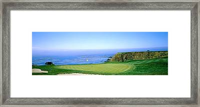 Pebble Beach Golf Course, Pebble Beach Framed Print by Panoramic Images