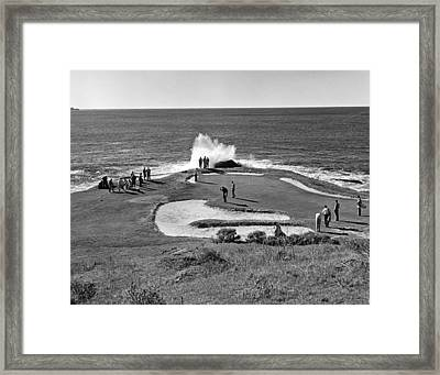 Pebble Beach Golf Course Framed Print by Underwood Archives