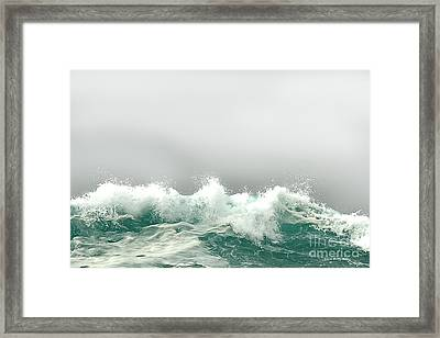 Pebble Beach In The Fog Framed Print by Artist and Photographer Laura Wrede