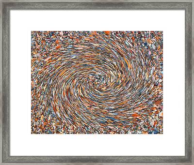 Pebbles And Shells Framed Print by Joseph Tese