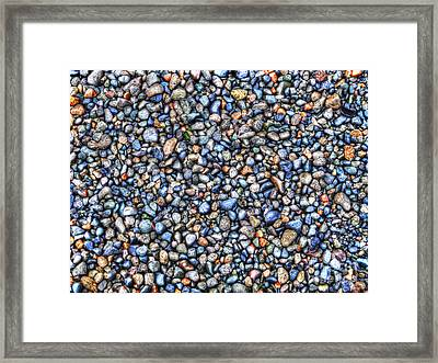 Pebbles Framed Print by Jim Wright