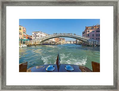 Pedestrian Footbridge Crossing Framed Print by Mats Silvan