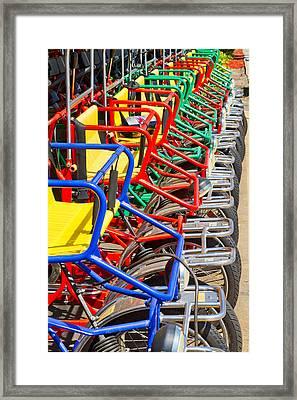 Pedicars Framed Print by Bernard  Barcos