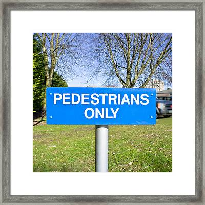 Pedstrians Only Framed Print by Tom Gowanlock
