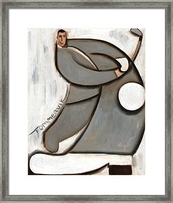 Pee-wee Herman Golf Swing Art Print Framed Print by Tommervik