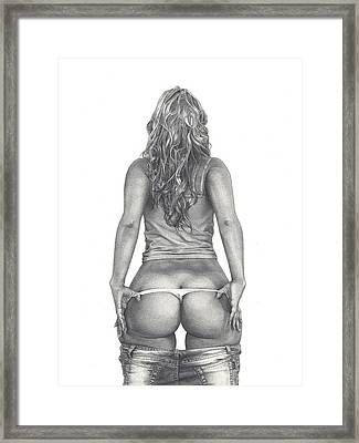 Peek-a-booty Framed Print by Salo Tabalus