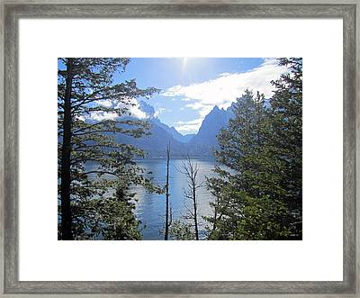 Peek-a-lake Framed Print by Mike Podhorzer