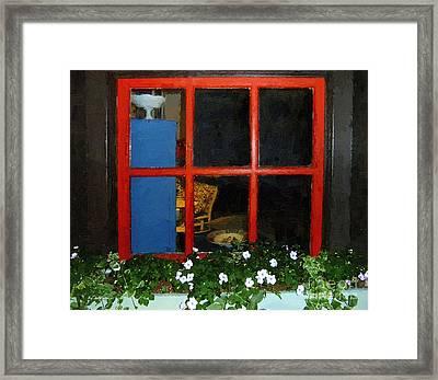 Peeking In Framed Print by RC deWinter