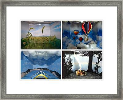 Peepholes Framed Print by Michelle Calkins