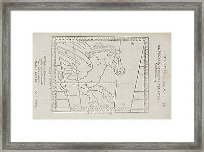 Pegasus Star Constellation Framed Print by British Library