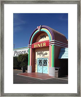Peggy Sue's 50's Diner Framed Print by Denise Beaupre