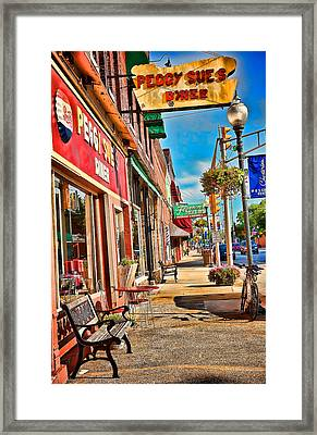 Peggy Sue's Diner Chesterton Indiana Framed Print by Joey Lax-Salinas