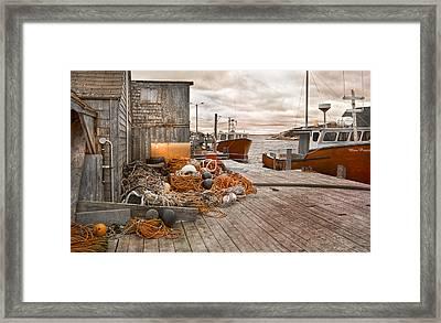 Peggy's Cove 17b Hue Framed Print by Betsy Knapp