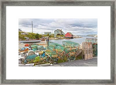 Peggy's Cove 5 Framed Print by Betsy Knapp