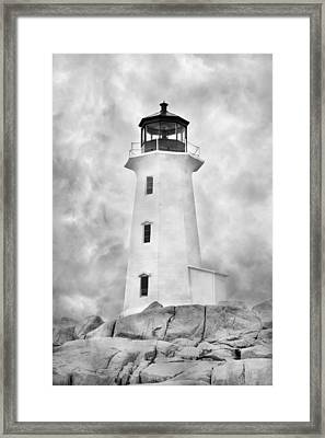 Peggy's Cove Lighthouse Framed Print by Betsy C Knapp