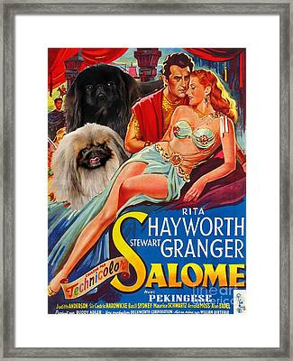 Pekingese Art - Salome Movie Poster Framed Print by Sandra Sij
