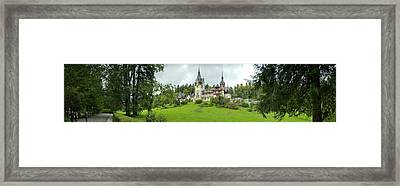 Peles Castle In The Carpathian Framed Print by Panoramic Images