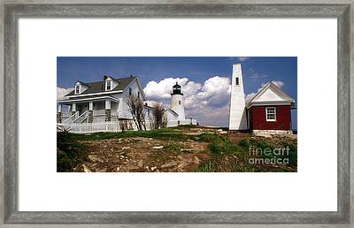 Pemaquid Complex Framed Print by Skip Willits