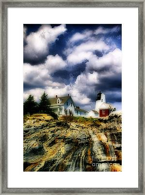 Pemaquid Fantasy Framed Print by Skip Willits