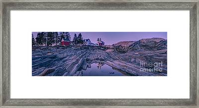 Pemaquid Light Reflections Framed Print by Abe Pacana