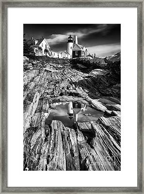 Pemaquid Light Reflections Framed Print by George Oze