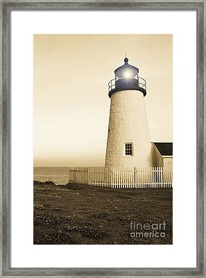 Pemaquid Point Lighthouse Framed Print by Diane Diederich