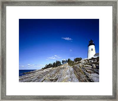 Pemaquid Point Lighthouse, Maine Framed Print by Rafael Macia