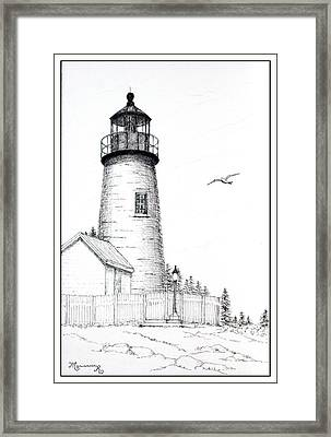 Pemaquid Point Lighthouse Framed Print by Mariarosa Rockefeller