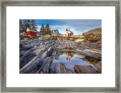 Pemaquid Reflection Framed Print by Robert Clifford
