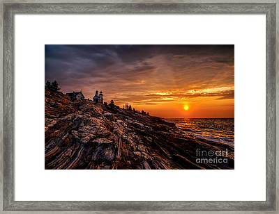 Pemaquid Sunrise  Framed Print by Jerry Fornarotto