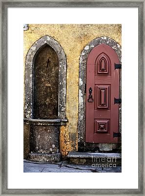 Pena Palace Door Framed Print by John Rizzuto