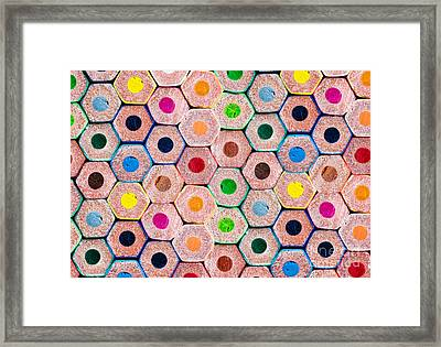 Pencils Framed Print by Delphimages Photo Creations
