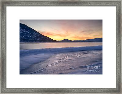 Pend Oreille Dawn Framed Print by Idaho Scenic Images Linda Lantzy