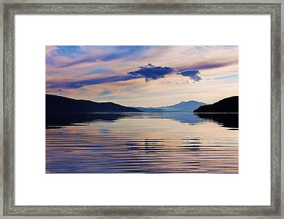 Pend Oreille Peace Framed Print by Benjamin Yeager
