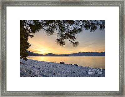 Pend Oreille Sunrise Framed Print by Idaho Scenic Images Linda Lantzy
