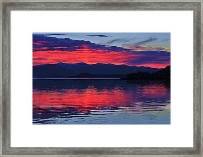 Pend Oreille Sunset Framed Print by Benjamin Yeager