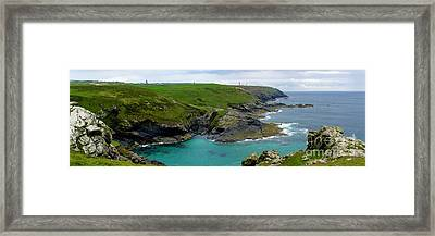 Pendeen Watch To Levant Framed Print by Terri Waters