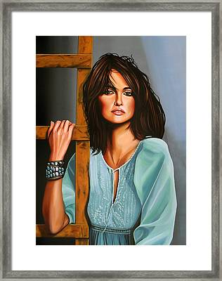 Penelope Cruz Framed Print by Paul Meijering
