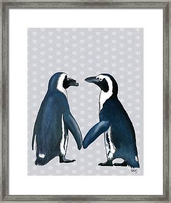 Penguins In Love Framed Print by Kelly McLaughlan
