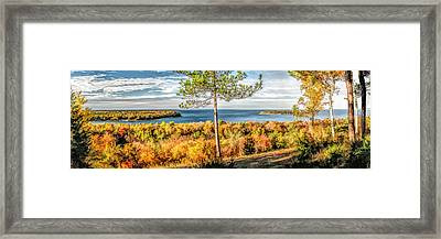 Peninsula State Park Scenic Overlook Panorama Framed Print by Christopher Arndt