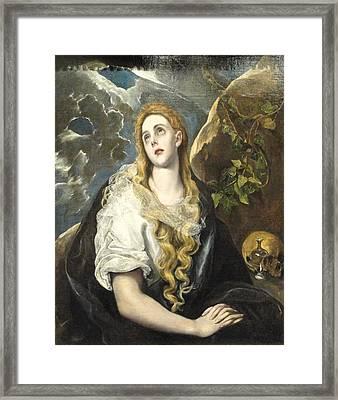 Penitent Magdalene Framed Print by Celestial Images