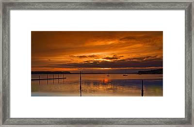Penn Cove Framed Print by Thomas Hall Photography