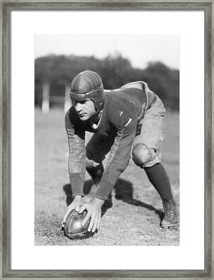 Penn Sate Football Captain Framed Print by Underwood Archives